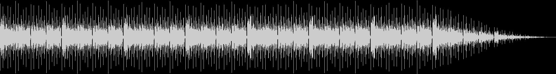 哀しめな曲調のリズムミュージックの未再生の波形