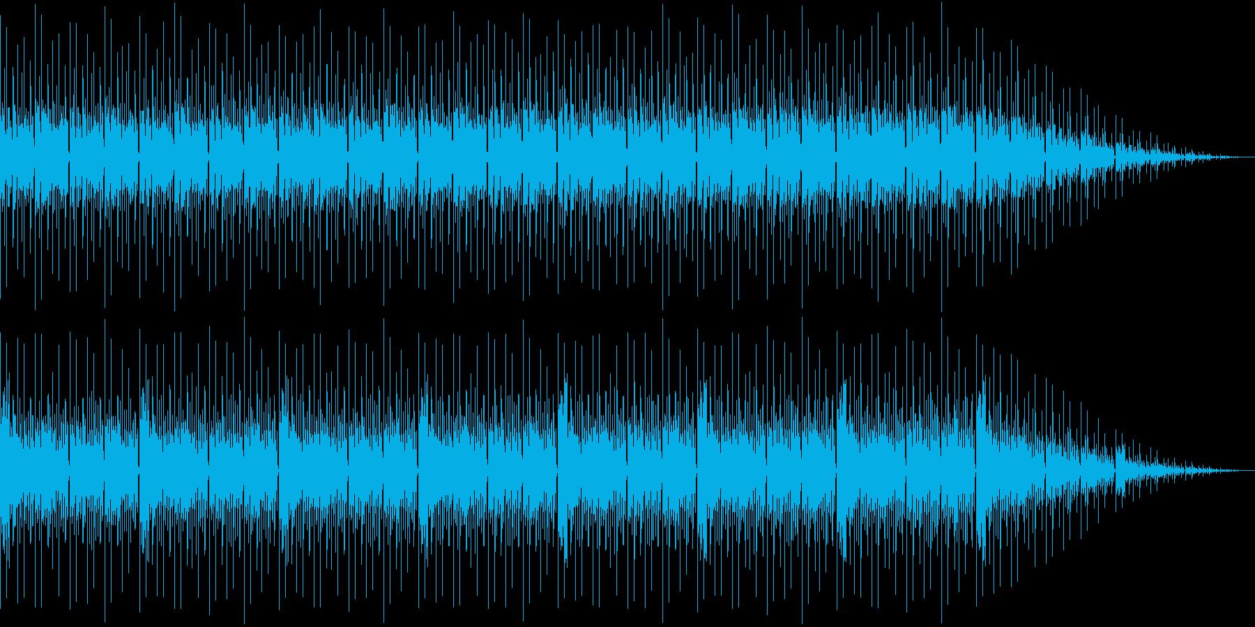 哀しめな曲調のリズムミュージックの再生済みの波形