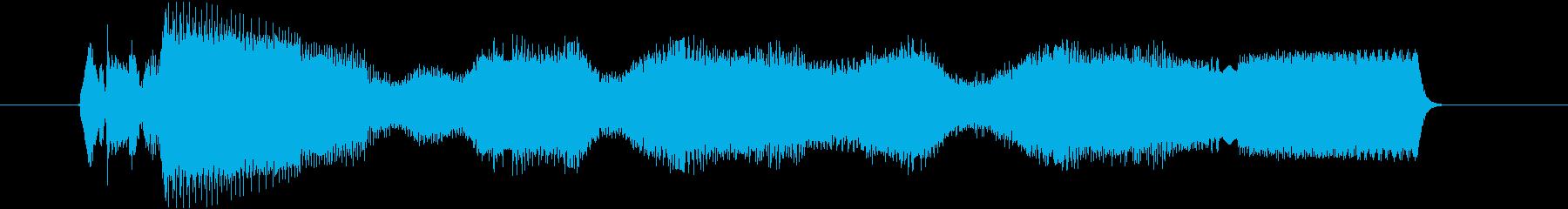 脳を直撃する電気ノイズの再生済みの波形