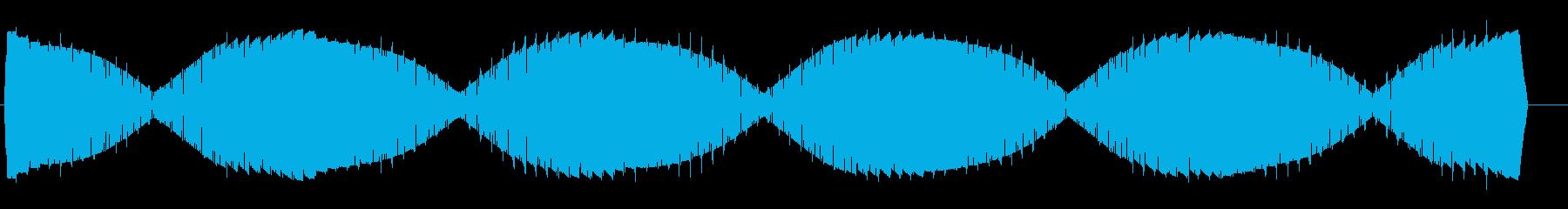 ワープエンジン(揺らぐ高音の鐘の様な音)の再生済みの波形