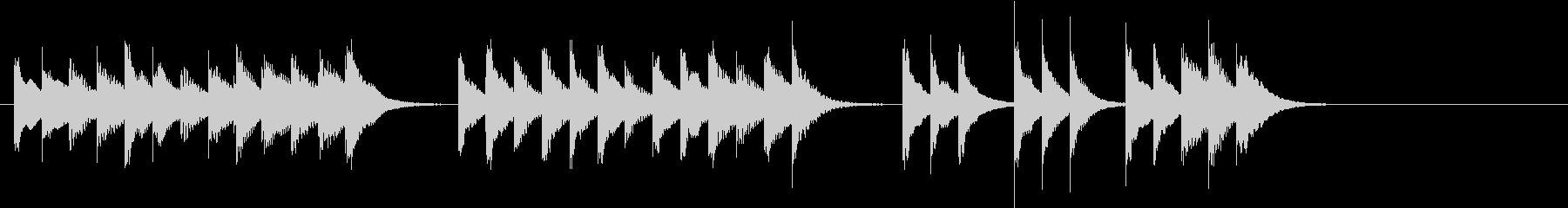 木琴で作った軽快で短い曲の未再生の波形