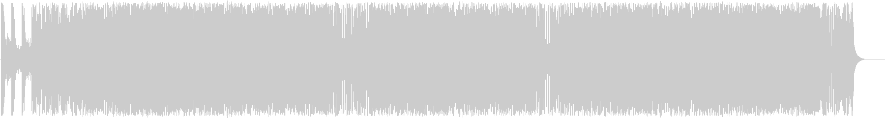 速いテンポで複雑な音のシンセサイザー曲の未再生の波形