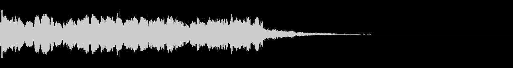 和風のジングル4の未再生の波形