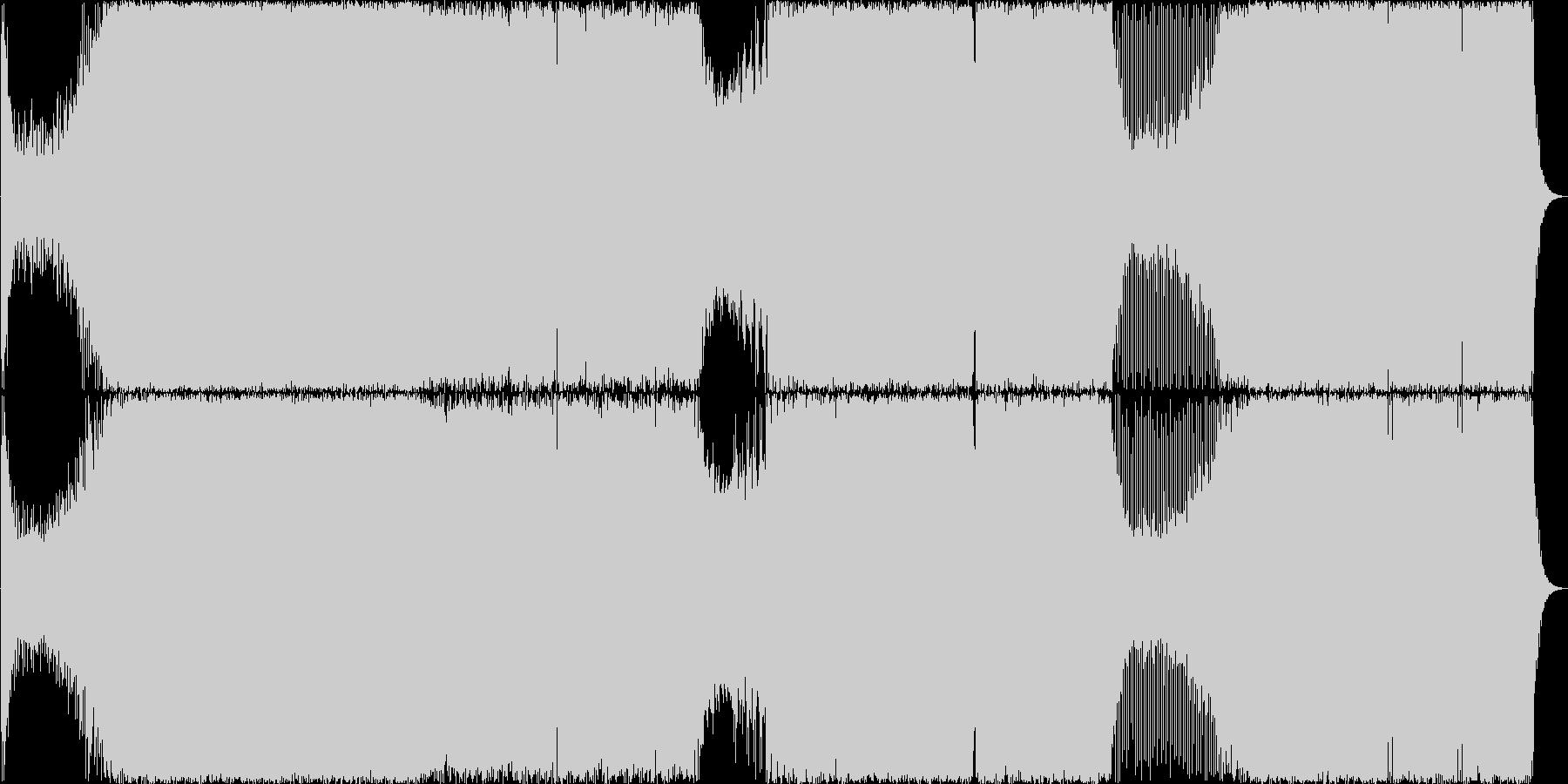 速いシーケンスが流れるトランス楽曲の未再生の波形