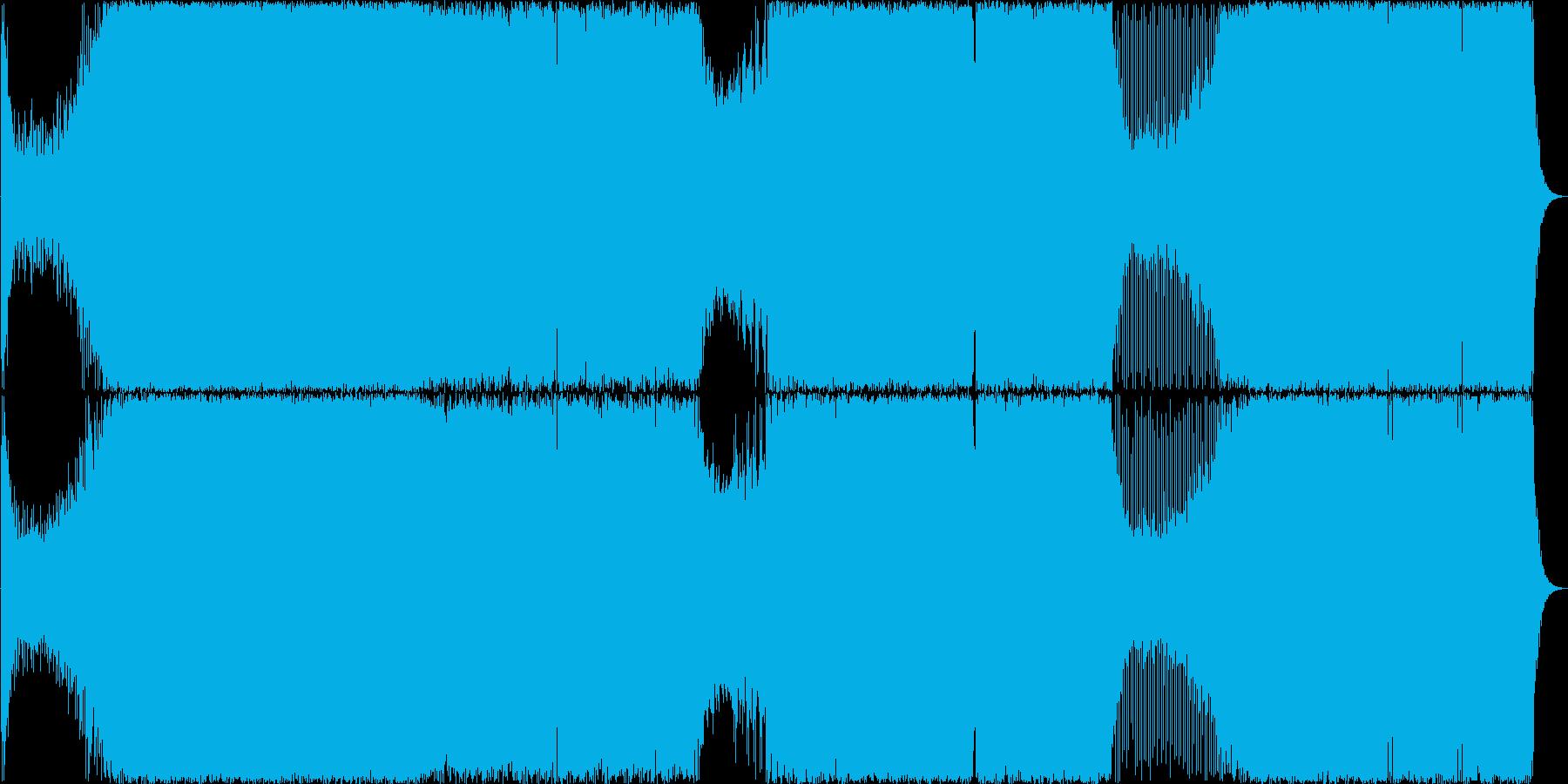 速いシーケンスが流れるトランス楽曲の再生済みの波形