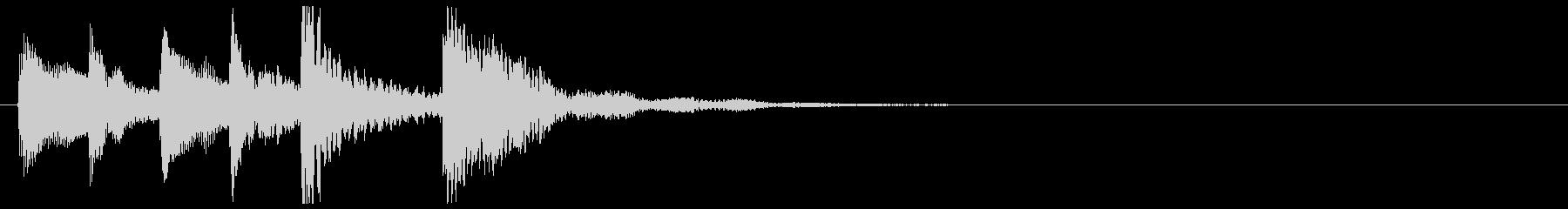かわいめのピチカートのジングルの未再生の波形