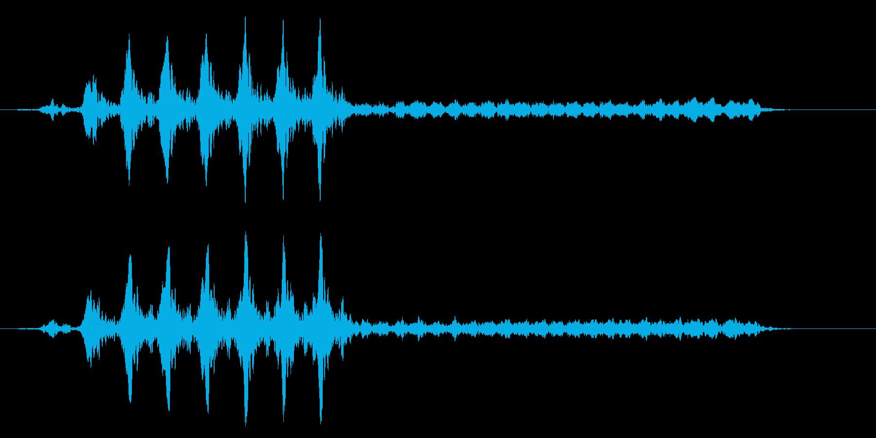 こおろぎの鳴き声_その4の再生済みの波形