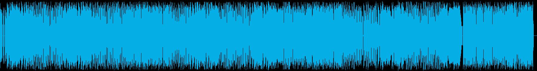 どこか怪しげな懐かしのファミコンサウンドの再生済みの波形