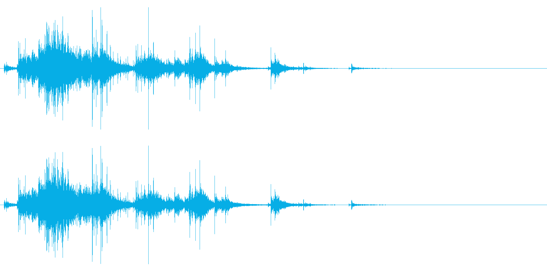 【生録音】お風呂 水の音 13の再生済みの波形
