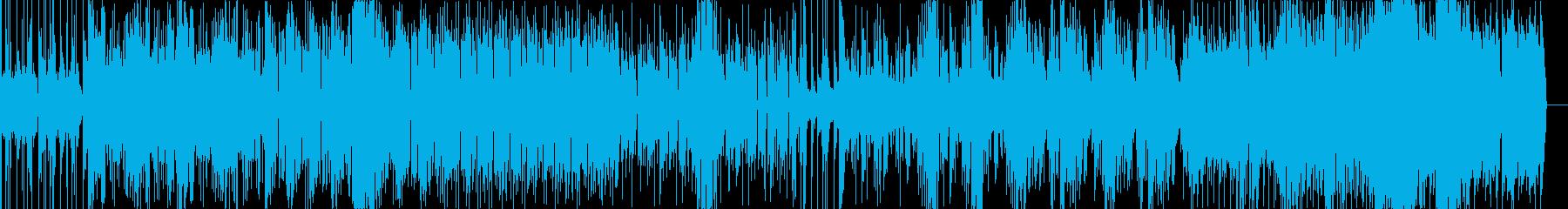 ゆっくりなメロディに素早いリズムの楽曲の再生済みの波形