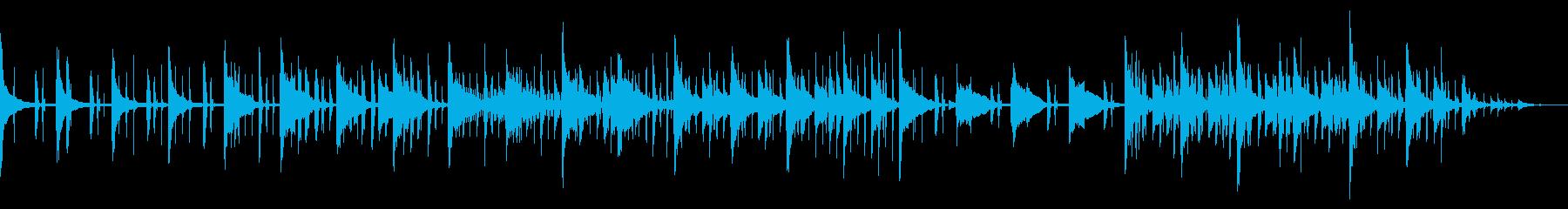雰囲気抜群のオシャレでダークなBGMの再生済みの波形