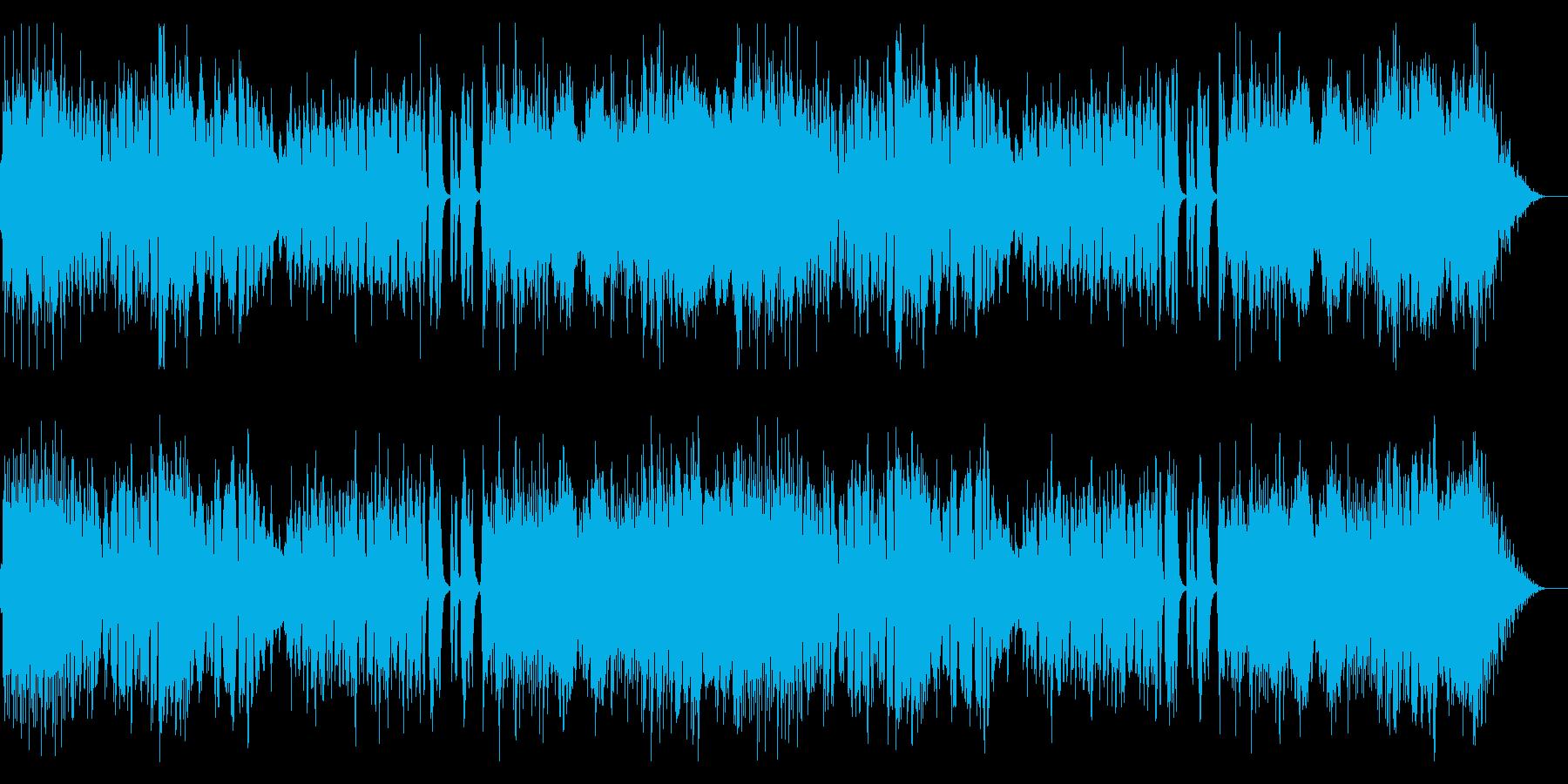妖しい雰囲気のオーケストラ楽曲の再生済みの波形