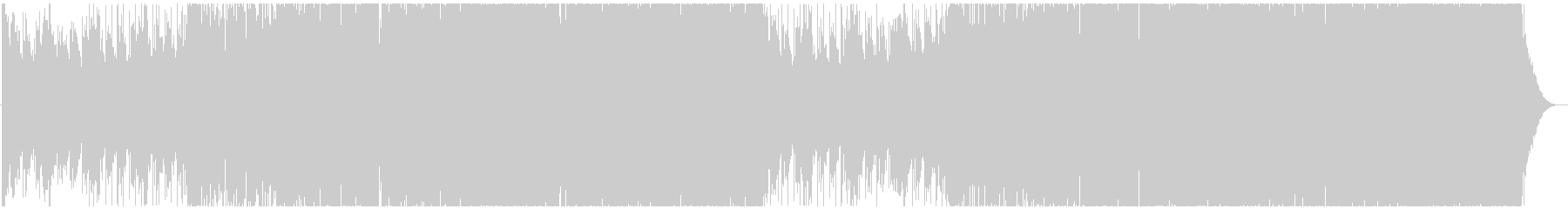 サックスが印象的なマイルド系ハウスの未再生の波形