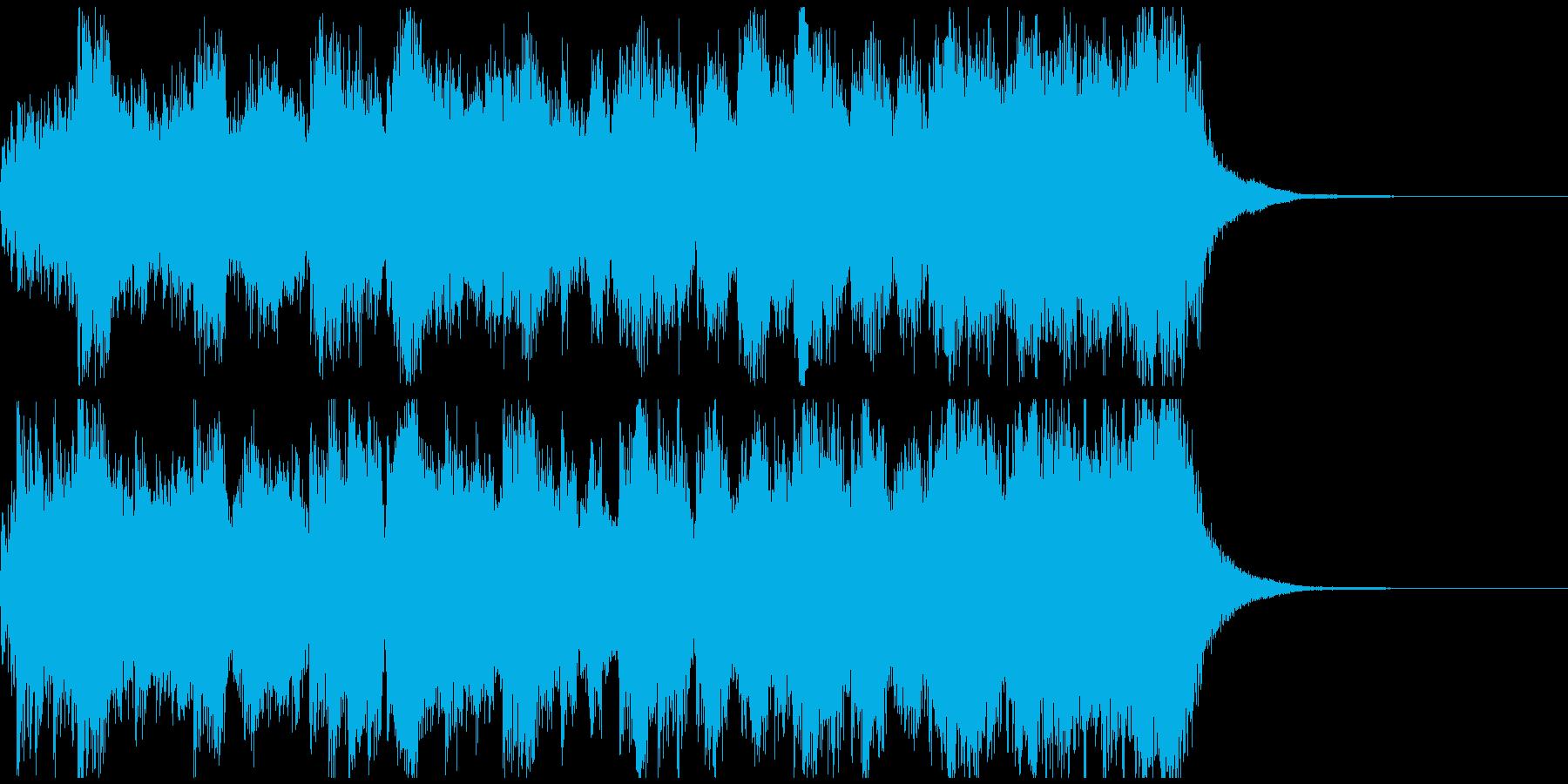 RPG風ファンファーレ ジングル約15秒の再生済みの波形