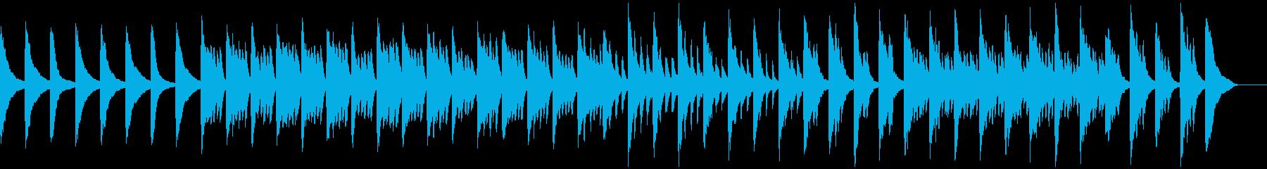 メロディとコードのシンプルなピアノ5の再生済みの波形