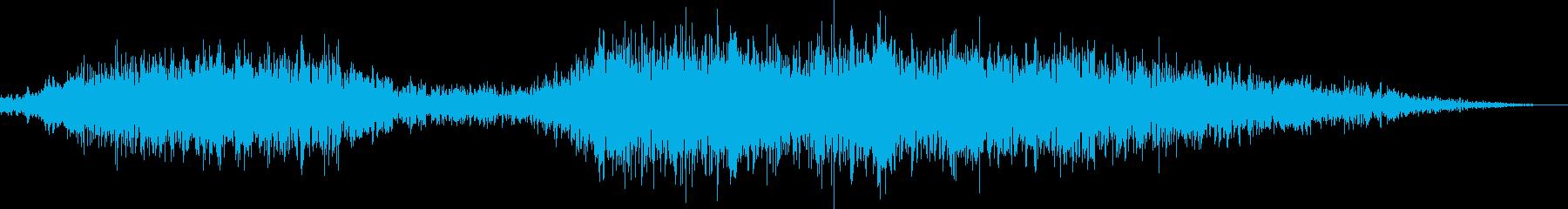 電車の蒸気噴出の再生済みの波形