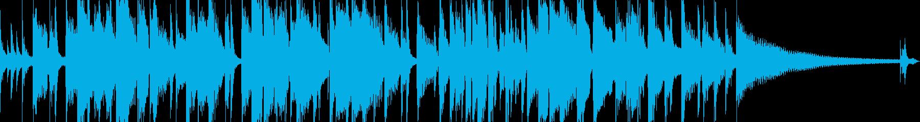 おしゃれなアコギソロの再生済みの波形