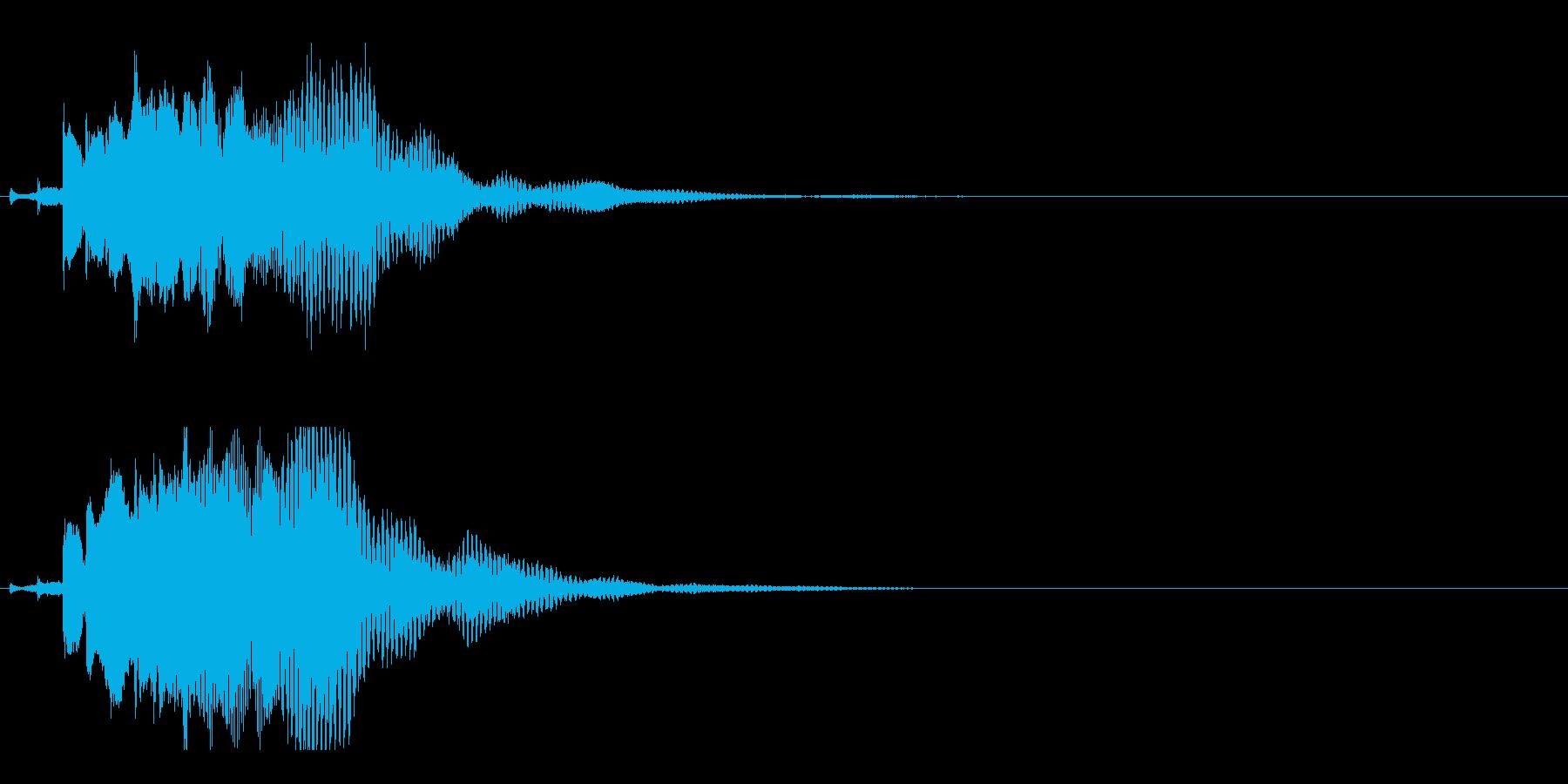 ハープ・下降_3-2の再生済みの波形
