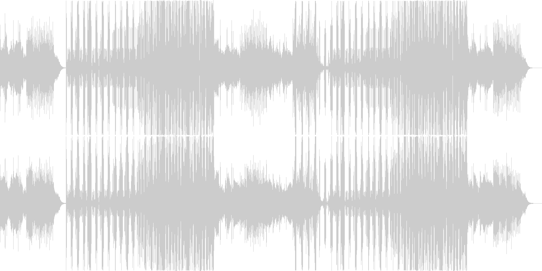 cool,不思議なEDMvocalなしの未再生の波形