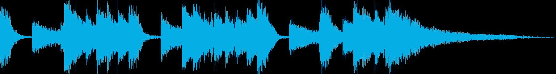 ラジオに合うお洒落なピアノ8秒ジングルの再生済みの波形