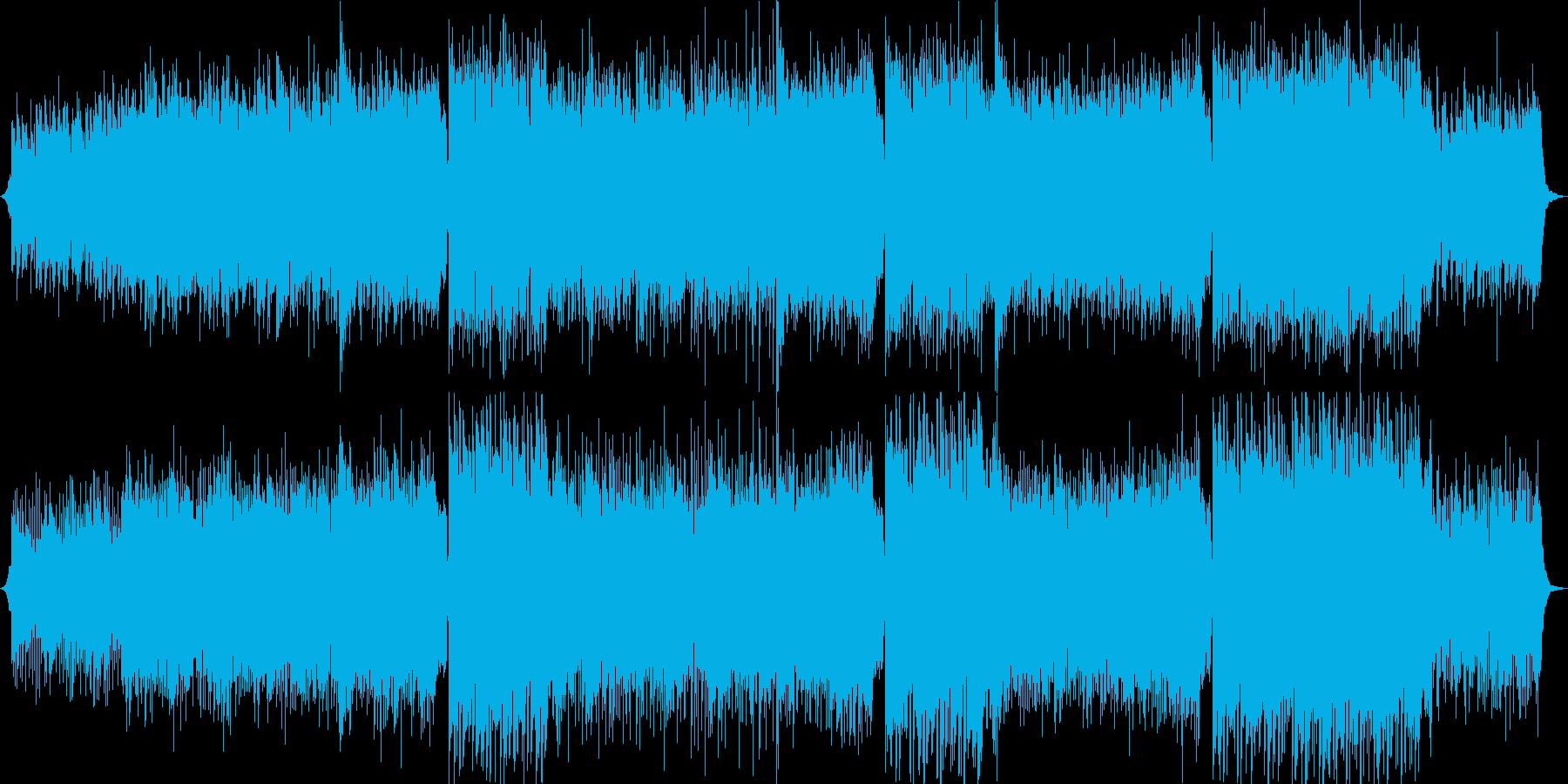 切ない感動的なEDM・CM・エンディングの再生済みの波形
