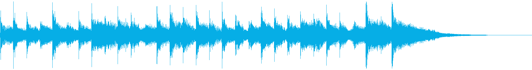 滑らかなメロディと滑らかなエンドス...の再生済みの波形