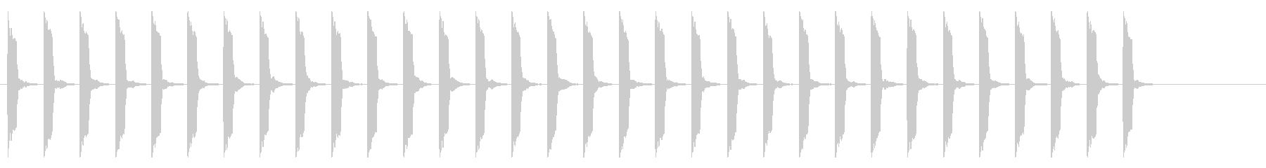 心電図の音-4-9(BPM120)の未再生の波形