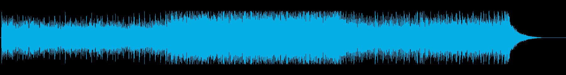 感動的な四つ打ちの再生済みの波形