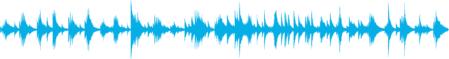 悲しげで静かなピアノ生演奏ソロ・ループの再生済みの波形