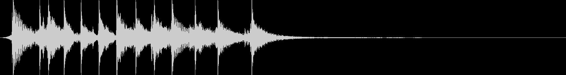 伝統的な津軽三味線 ジングル2の未再生の波形