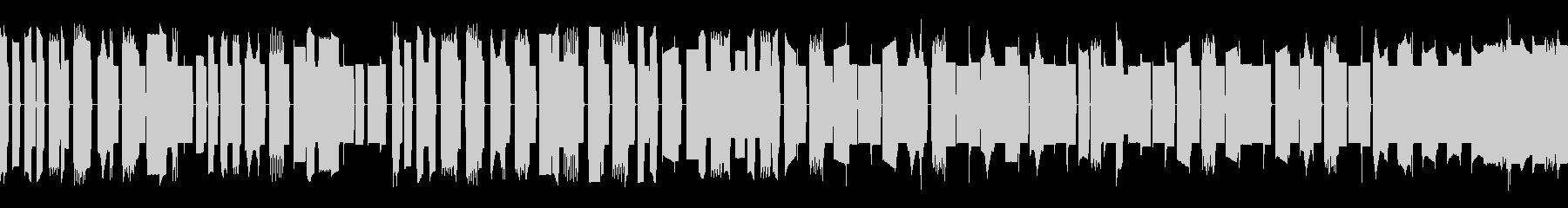 昔のファミコン風BGMの未再生の波形