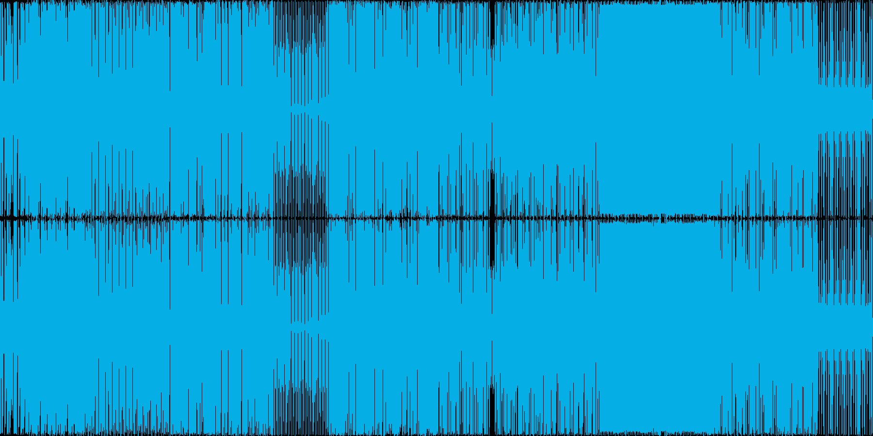 暗めでドラム音とベースが多めの曲ですの再生済みの波形