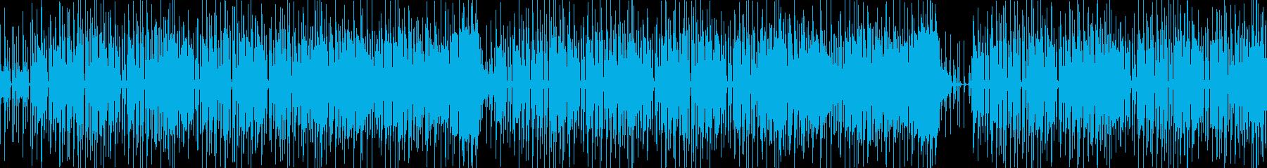 ほのぼのした口笛主体のBGMの再生済みの波形