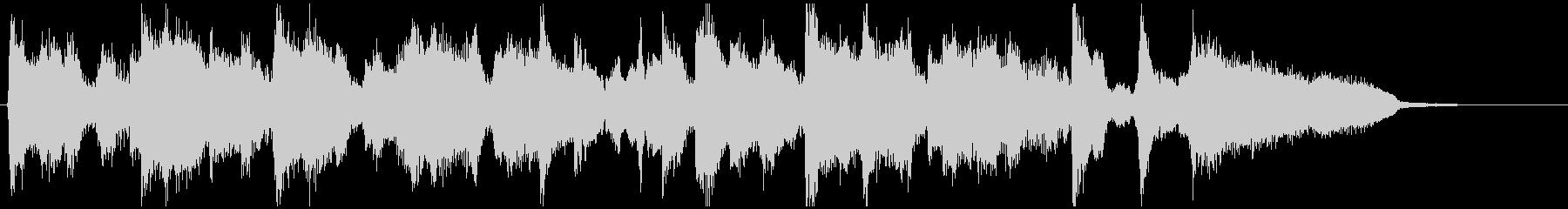 15秒CM向け、フルート生演奏のジャズの未再生の波形