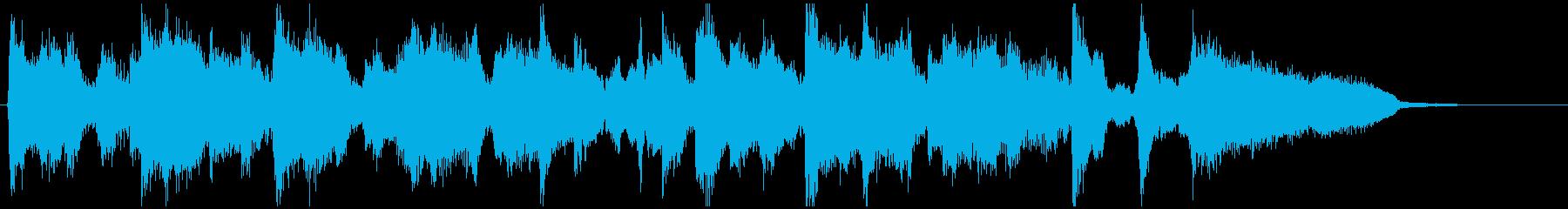 15秒CM向け、フルート生演奏のジャズの再生済みの波形