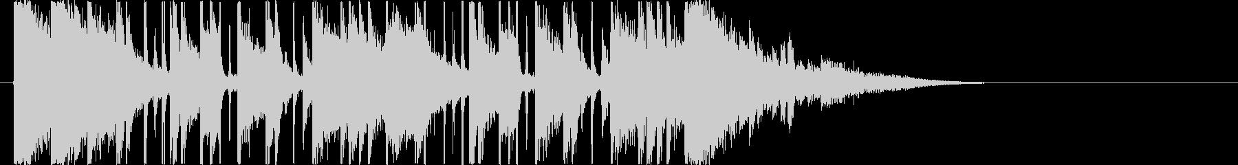 リズミカルでキャッチ―なエレキジングルの未再生の波形