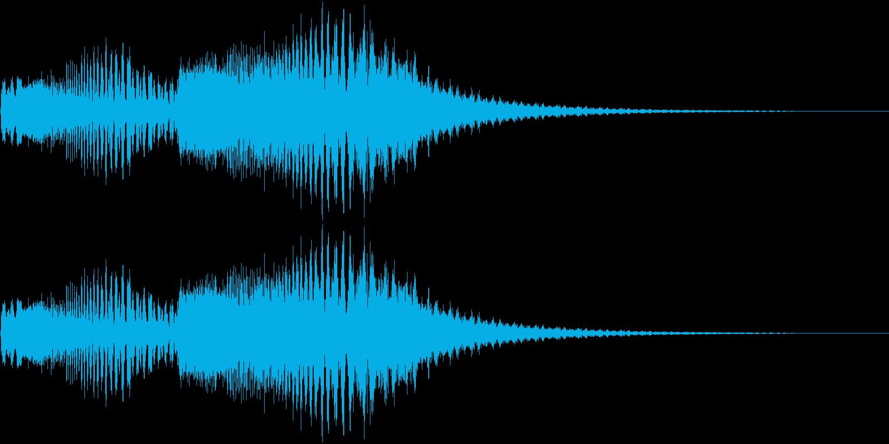 238 FXビーム音(1)の再生済みの波形