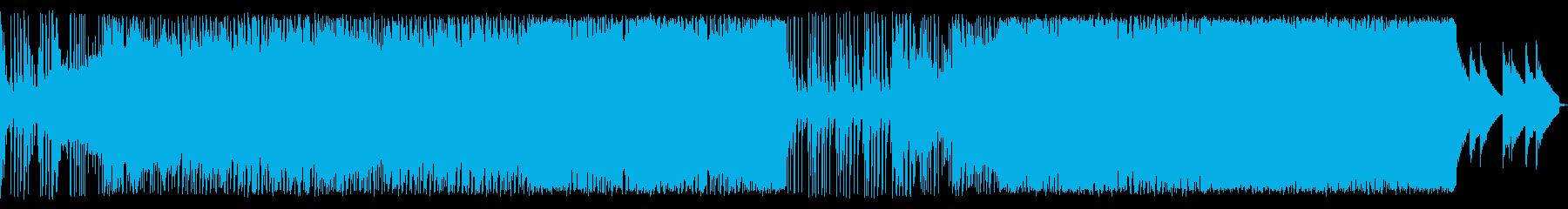 アップテンポEDM/スピード感あるBGMの再生済みの波形