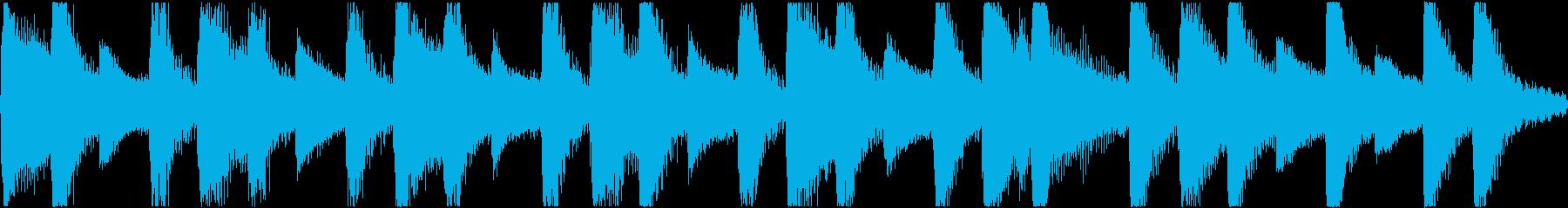 軽快ででコミカルな雰囲気のループBGMの再生済みの波形