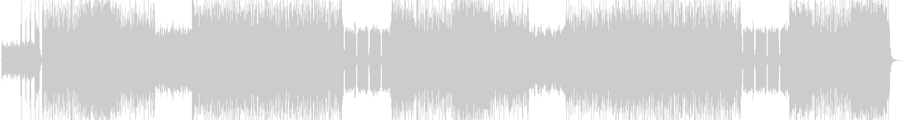 不気味、ハードロック系の曲 BGM228の未再生の波形