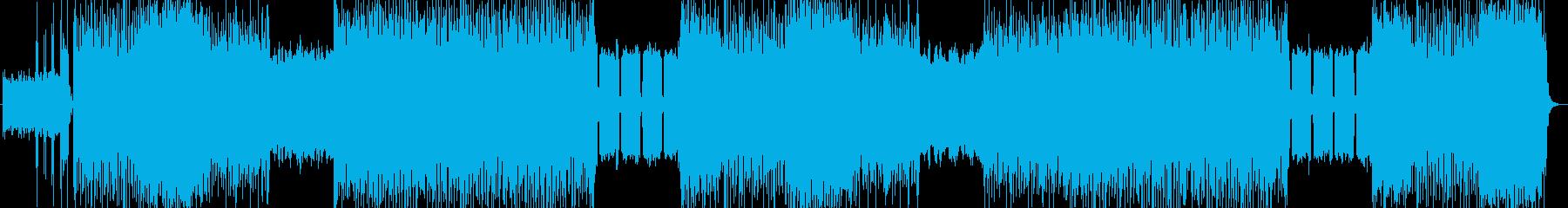 不気味、ハードロック系の曲 BGM228の再生済みの波形