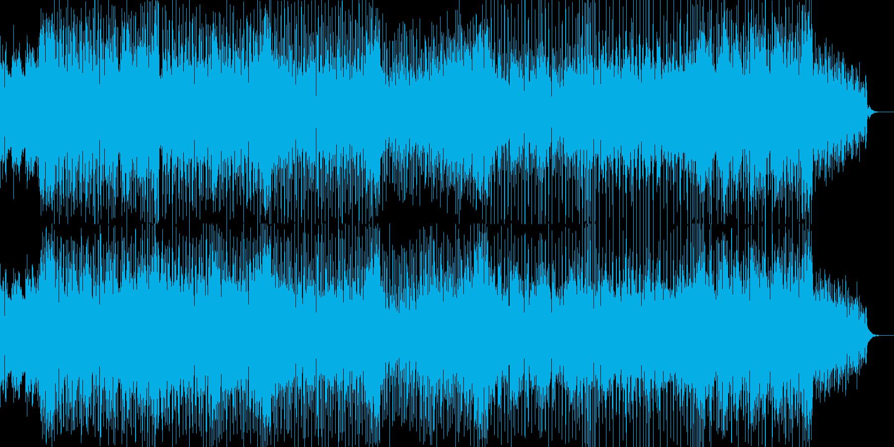 シンセアルペジオが印象的な疾走感のある曲の再生済みの波形