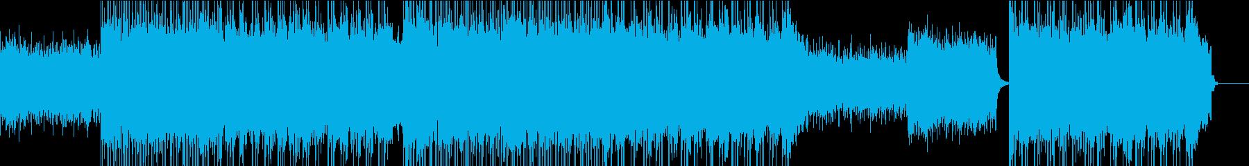 壮大で明るいポップ・ロックミュージックの再生済みの波形