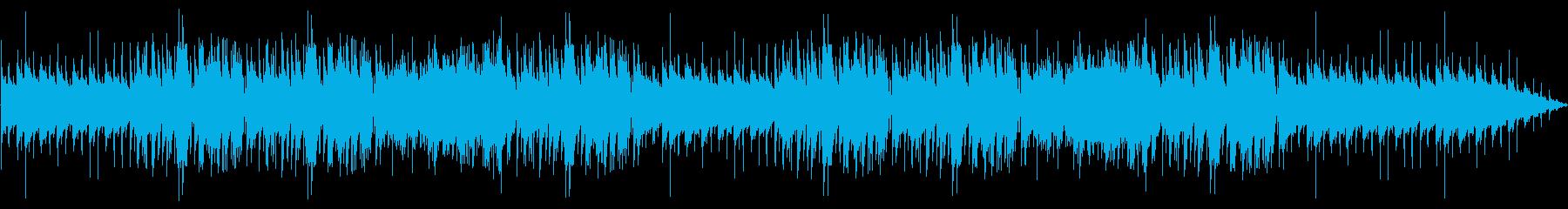 のんびりしたインスト曲の再生済みの波形