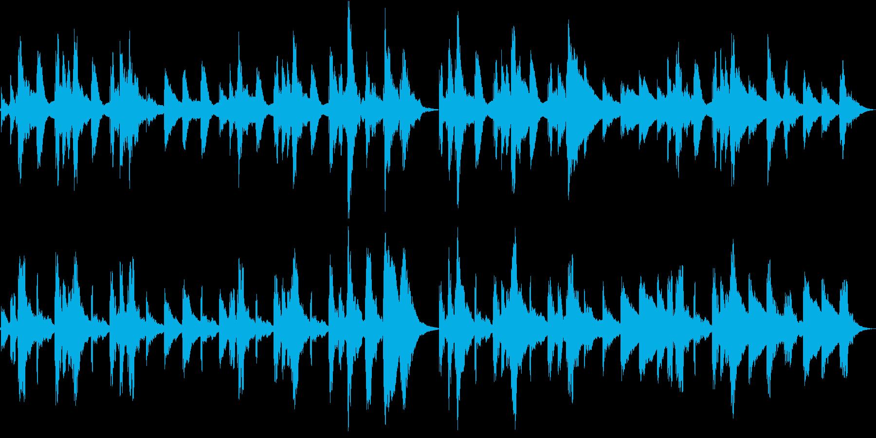 オルゴール「アメージンググレイス」の再生済みの波形