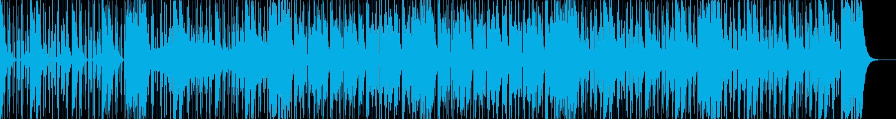 ダークなブラスとスクラッチヒップホップbの再生済みの波形
