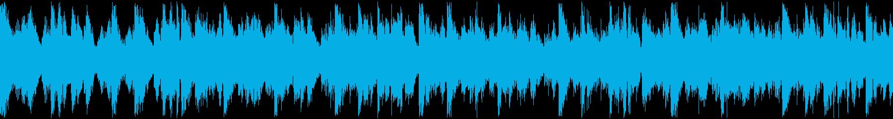 ミニマルなマリンバとストリングスのループの再生済みの波形