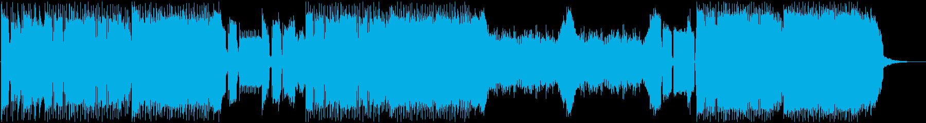 ワイルドなバトル系BGMの再生済みの波形