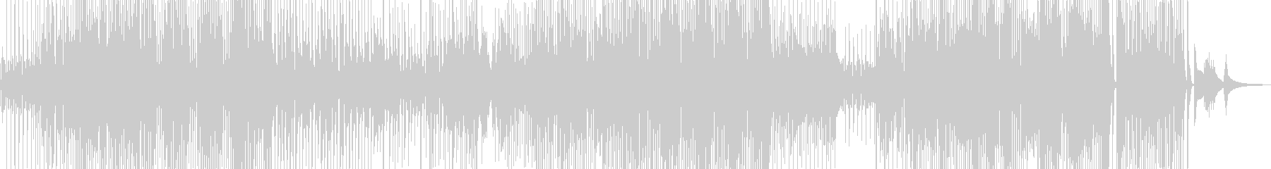 ユーモラスで軽快なジャズ+サックスの未再生の波形