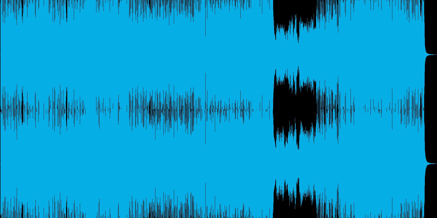 疾走感抜群のハイスピードフュージョンの再生済みの波形